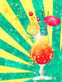 Orange cocktail mit dekorationen — Stockfoto