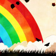 Stock Photo: Grunge rainbow background