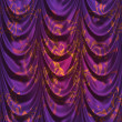 Violet decorative curtain — Stock Photo