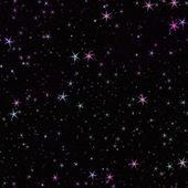 Stjärnor i mörkt utrymme — Stockfoto