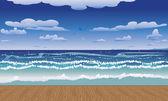 Molo a moře — Stock vektor