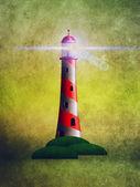 Gród latarnia morska — Zdjęcie stockowe