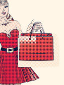 Полутоновый торговый женщина — Стоковое фото