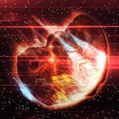 Big asteroid burning — Stock Photo