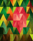 Grunge colorful triangles — Stock Photo