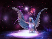 Space angel — Stock Photo