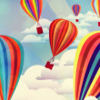 Colorful hot air balloons — Stok fotoğraf #27910301