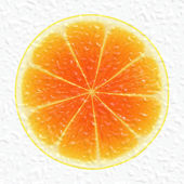 Orange slice — Stock Photo