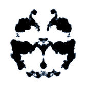 Rorschach inkblot — Stock Photo