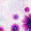Stock Photo: Purple flowers design