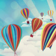 Colorful hot air balloons — Stok fotoğraf #28769319