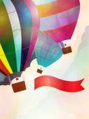 Balloon with ribbon — Stock Photo
