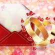 Wedding background — Stock Photo