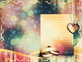 Beautiful wedding card — Stock Photo