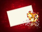 Romantic wedding card — Stock Photo