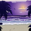 Night beach — Stock Vector