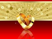 Wedding rings background — Stock Photo