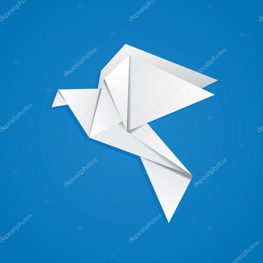 Как сделать простого голубя из бумаги своими руками