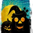 Halloween party background with pumpkins — Stock Photo