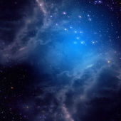 Space background of blue color — Stock Photo