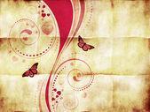 Розовый вихрь орнамент на бумаге — Стоковое фото