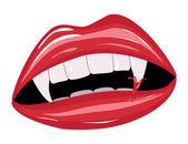 Vampire mouth — Stock Vector