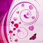 Violet swirl ornament — Stock Photo