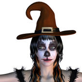 Witch with gothic make up — Foto Stock
