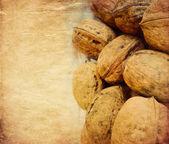 Walnuts background — Stock Photo