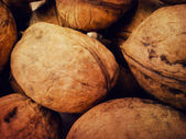 Walnuts background — Foto de Stock