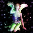 Fairy in stars — Stock Photo