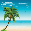 Summer beach and palm — Stock Vector #30600045