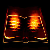Burning book — Stock Photo