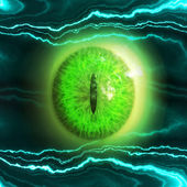 Eyeball of monster — Stock Photo