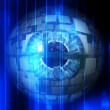 Stock Photo: Tech eyeball