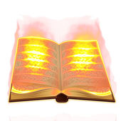 Old book burning — Stockfoto