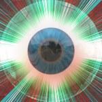 Eyeball with rays — Stock Photo