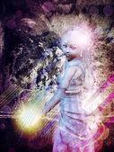 магические девушка гранж — Стоковое фото