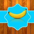Banana on blue background — Stock Photo