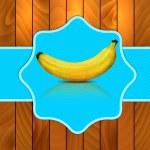 Banana on blue background — Stock Photo #32104879