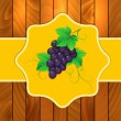 Grapes on a wooden background — Stock Photo