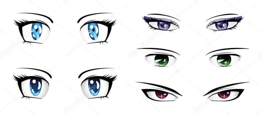 anime ojos hombre: Vector De Stock © Artshock