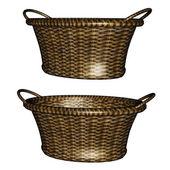 3d empty basket — Stock Photo