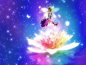 Fantasy floral fairy — Stock Photo
