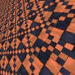 Stock Photo: Distorted orange checkers