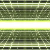 Griglia incandescente di cyber — Foto Stock