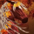 Autumn horse — Stock Photo
