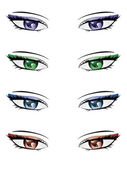 Anime style eyes — Stock Vector