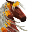 Stock Photo: Autumn horse
