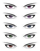 Anime male eyes — Stock Vector